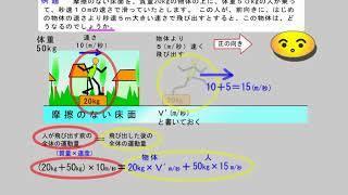 高校物理 力学 (060-20-2)運動量保存の法則/例題